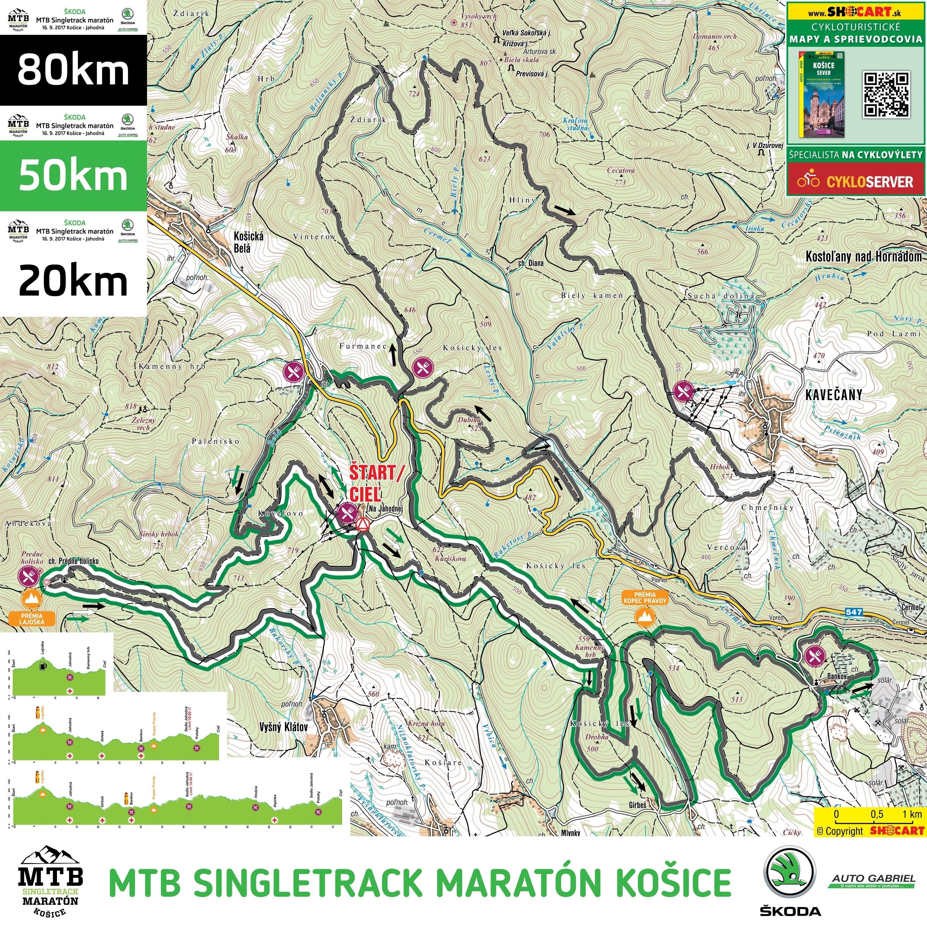 mapa mtb singletrack maraton kosice